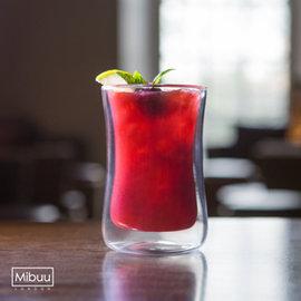 英國Mibuu 雙層玻璃杯^(小迷布100ml 2入^)