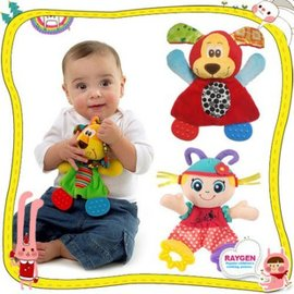 玩具 玩具 動物 安撫巾 玩偶 響紙 牙膠 安撫玩具 三款【HH婦幼館】