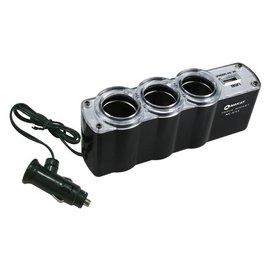 ~鉦泰 館~KINYO 車用點煙器擴充座USB充電槽NC~U13