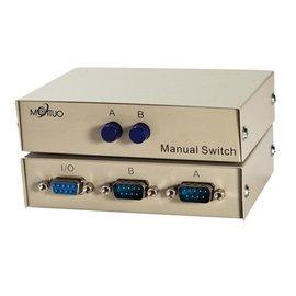 (switch) RS232 2port 二進一出 一分二 切換器/分配器/轉換器 **金屬殼**