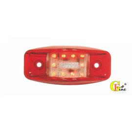 GO~FINE 夠好 台製12led燈外紅內透明全亮紅12v 24v3線2段led側燈le