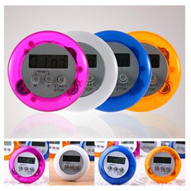 新款 廚房 圓形電子計時器 倒數計時器/可正計時/定時器 **磁鐵吸附式** [BKM-00005]