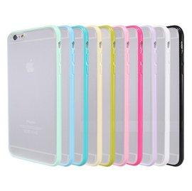 iphone6-4.7吋/plus 5.5吋 糖果色TPU+PC 手機殼/ 磨砂蘋果手機殼/保護套 [ABO-00109]