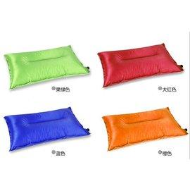 ~露營趣~中和 TNR~010 抗撕裂格紋布 自動充氣枕頭 充氣枕頭 露營枕頭 充氣枕 非