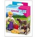 德國Playmobil摩比^(4778^) SP系列女孩與小牛