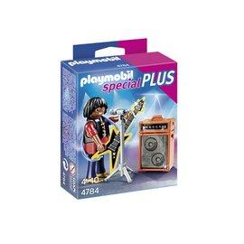 德國Playmobil摩比^(4784^) SP系列黑人搖滾樂歌手 Rocker