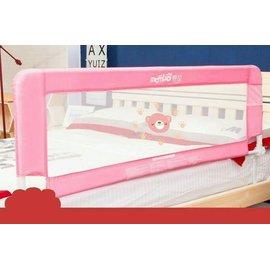 【紫貝殼】『LA33』《蔓葆安全防護欄》床護檔 床欄 床護欄 床圍(小熊) (長150公分*高52公分崁入式) 適用平面床、掀床、有床框床架