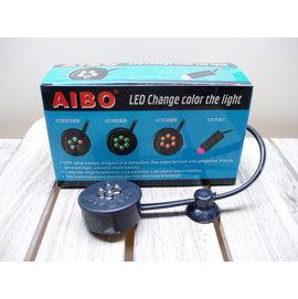 微笑的魚水族~AIBO~水陸兩用 LED水中燈~梅花燈^(綠^)~情境更加分
