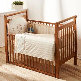 『GCH17-7』奇哥 Joie Peter Rabbit 比得兔嬰兒中床(126 x 68 x 106 公分)+優雅比得兔六件寢具組【奇哥正品】