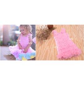 ~小阿霏~SKT06兒童女童泡泡衫 粉色 生日寫真拍照表演 花童萬聖節聖誕節派對寶寶團拍