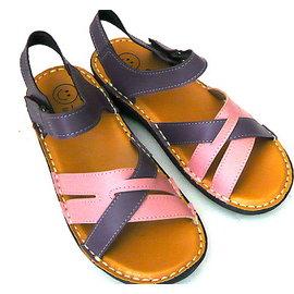 e鞋院 簡約交錯氣墊涼鞋