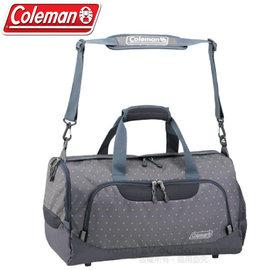 【美國Coleman】Boston 多功能大容量旅行袋35L.手提袋.手提包.行李袋.單肩背包袋.旅遊袋.自助旅行包.側背包/CM-D401 圓點灰