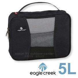 【美國 Eagle Creek】Pack-It Half Cube 方型收納打理包(5L)/收納袋.收納包.化妝包.盥洗包.旅行包_黑 ECD41196010