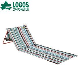 丹大戶外~LOGOS~ 條紋貼地折疊躺椅 折合休閒椅 和室椅 親子沙灘椅 草地椅 paul