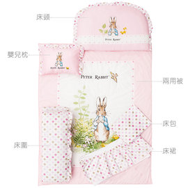 『GCH18-4』奇哥Joie Peter Rabbit  粉彩比得兔6件床組 (M-粉藍) 日本SEK抗菌防螨處理【奇哥正品】