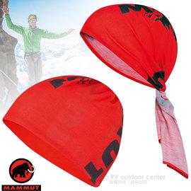 【瑞士 MAMMUT 長毛象】新款 Zermatt Headband 超彈性吸濕快乾舒適頭巾(馬特洪峰150週年紀念款).圍巾.無車縫.圍脖/04590-3271 紅(DA)