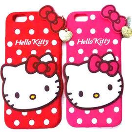 卡通可愛Holle Kitty波點愛心吊墜手機保護套iPhone6 iPhone6Plus