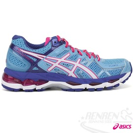 ASICS亞瑟士~GEL~KAYANO 21 女高支撐型慢跑鞋^(水藍^~紅^)~