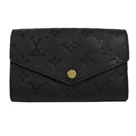 Louis Vuitton LV M60568 Compact Curieuse 花紋全皮