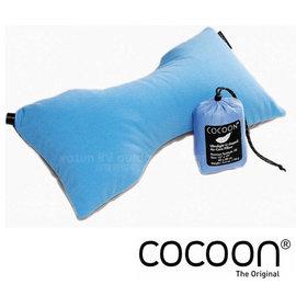 【奧地利 COCOON】 LUMBAR SUPPORT PILLOW 旅行充氣背部靠墊/頸枕.枕頭.長途旅遊.飛機枕.旅行護頸枕/附收納袋_粉藍 COB-ACP3-UL1