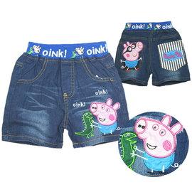 ~✩~Ivy寶貝童衣~✩~外貿水洗粉紅小豬牛仔短褲