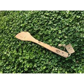 ~QC館~ 檜木煎匙 天然無上漆 平口、左手或右手