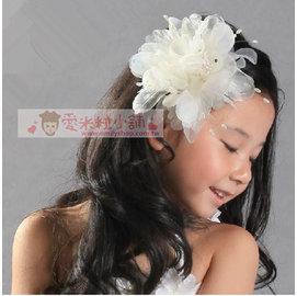 兒童禮服頭飾 精緻 頭花 別針髮夾兩用 花童髮飾 ~愛米粒~ D13
