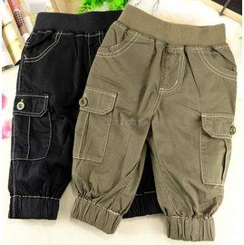 8分褲  ATTENTION卡其縮口可寫名字工作褲2色可調長度 春夏秋 小中大童 男女童
