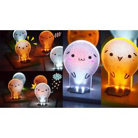 超可愛 卡通造型  LED節能小夜燈   ◇/電池小夜燈 節能創意床頭顏文字表情卡片燈動漫檯燈夜光小壁燈