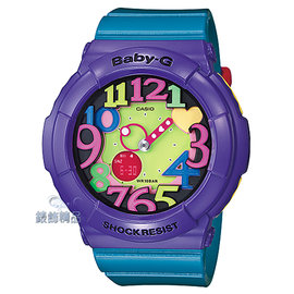 【錶飾 】 BABY-G卡西歐CASIO多彩霓虹立體數字刻度 BGA-131-6BDR藍x