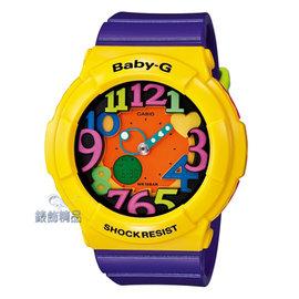 【錶飾 】 BABY-G卡西歐CASIO多彩霓虹立體數字刻度 BGA-131-9BDR黃x