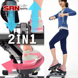 【SAN SPORTS 山司伯特】雙效2in1扭腰踏步機C025-6603UT (搖擺活氧美腿機.有氧滑步機划步機.運動健身器材.推薦哪裡買便宜)