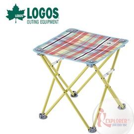探險家戶外用品㊣NO.73175028 日本品牌LOGOS 愛麗絲迷你格紋立方椅 野營椅 輕便椅 登山椅 折疊椅