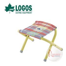 探險家戶外用品㊣NO.73175030 日本品牌LOGOS 愛麗絲迷你格紋便攜椅 紅 野營椅 輕便椅 登山椅 折疊椅