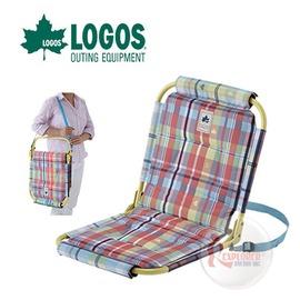 探險家戶外用品㊣NO.73175059 日本品牌LOGOS 愛麗絲格紋和風軟墊椅 休閒椅和室椅折疊椅摺疊椅折合椅和式椅