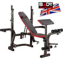 【BODY SCULPTURE】多功能折疊舉重床C016-3210深蹲架舉重架.啞鈴椅舉重椅.重力舉重量訓練機.仰臥起坐板.運動健身器材推薦哪裡買