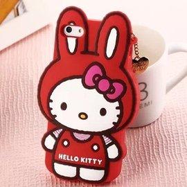 卡通可愛holle kitty心形吊墜手機保護殼iPhone6 iPhone6Plus i