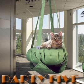 PARTY~FIVE ^~喵鞦韆吊床 皇家喵喵鞦韆床 貓鞦韆1層逍遙款 橄欖綠色