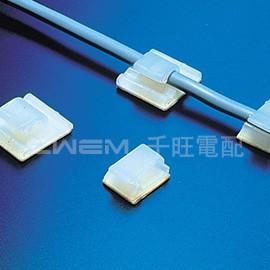 ~和旺電配~CWFC~0601 黏式固定夾 配線夾 固定座 底座背膠 夾線槽0.9mm ^