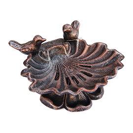 皂盤— 貝殼 可瀝水立體小鳥 鑄鐵肥皂盤香皂盤 燭台置物盤 加高 ~ 民族~