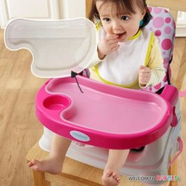 餐盤 攜便式兒童折疊式餐椅透明餐盤【HH婦幼館】