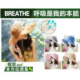 (限時促銷)超輕便可折疊 抗UV透氣舒適 超嫵媚!可拆卸花朵款!遮陽帽 防風防紫外線防曬帽抗紫外線