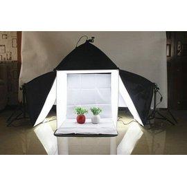 50CM小型攝影棚+3柔光箱燈套裝 簡易攝影棚套裝 攝影燈 攝影器材 商業攝影LK~02