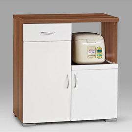 ~森可家居~美斯特2.7尺鏡面廚房櫃^(14186^)→免 MIT 製 DIY型 餐櫃