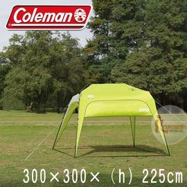 探險家露營帳篷㊣CM-23498 美國Coleman 快搭半截式遮陽帳 /300 速搭客廳帳棚炊事帳蓬快速帳篷