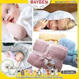 毯子 柔軟透氣編織蓋毯 洞洞毯 嬰兒被 提袋【HH婦幼館】