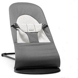 【紫貝殼】『GCH25-7』BabyBjorn Bouncer Balance Soft 柔軟彈彈椅-透氣/黑灰【彈彈椅自然擺動不需使用電池/符合人體工學】【正品】