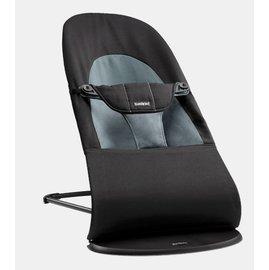 【紫貝殼】『GCH25-4』BabyBjorn Bouncer Balance Soft 柔軟彈彈椅-黑灰【彈椅自然擺動不需使用電池/符合人體工學】【正品】