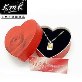 浪漫主義,瑰麗上市^~KMK鈦鍺 ~黃金箔片~純白鋼 金箔 磁鍺健康墜鍊