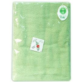 素色緞條浴巾(綠)